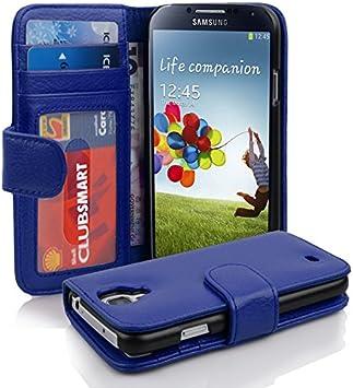 Cadorabo Funda Libro para Samsung Galaxy S4 en Azul Real – Cubierta Proteccíon con Cierre Magnético e 3 Tarjeteros – Etui Case Cover Carcasa: Amazon.es: Electrónica