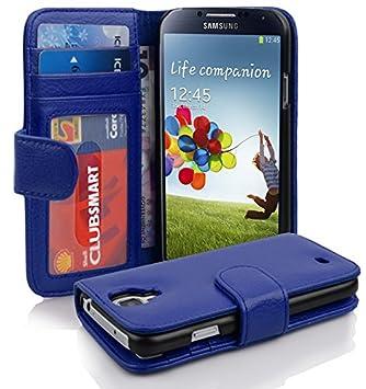 Cadorabo Carcasa Compatible con Samsung Galaxy S4 Funda en Rey Azul Teléfono Móvil con Tarjeta de 3 Compartimentos Case Cover Funda para portatil