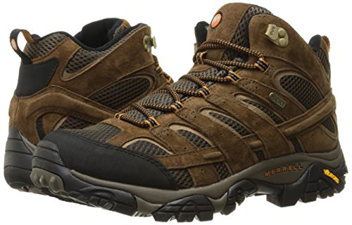 Image of the Merrell Men's Moab 2 Mid Waterproof Hiking Boot, Earth, 10 M US