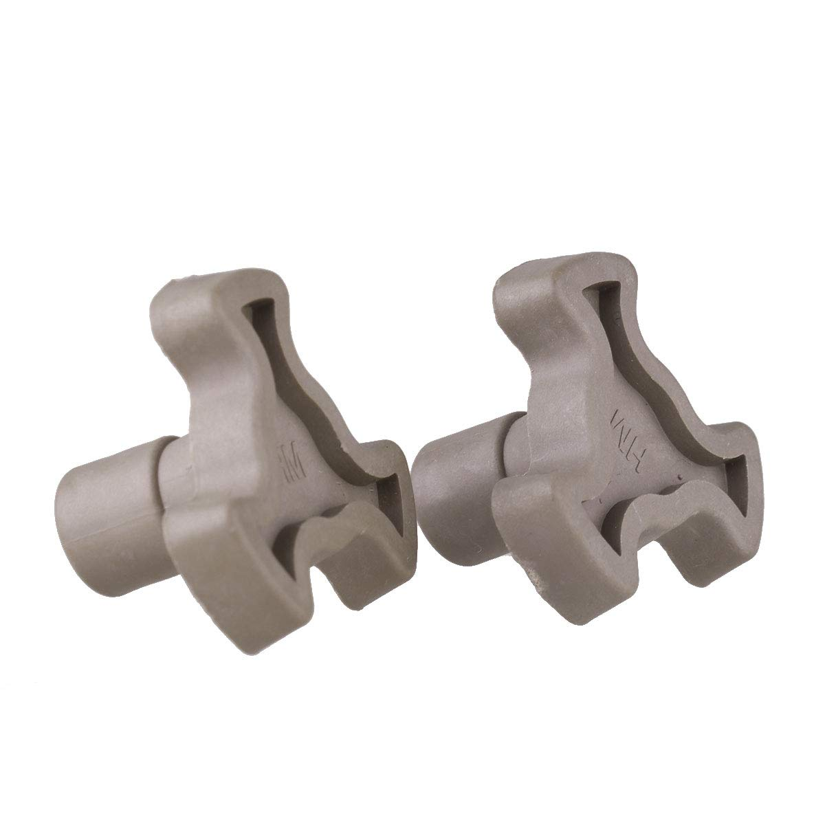 IEFIEL 2Pcs Microwave Oven Turntable Roller Support Coupler Tray Shaft Brown 1.7cm