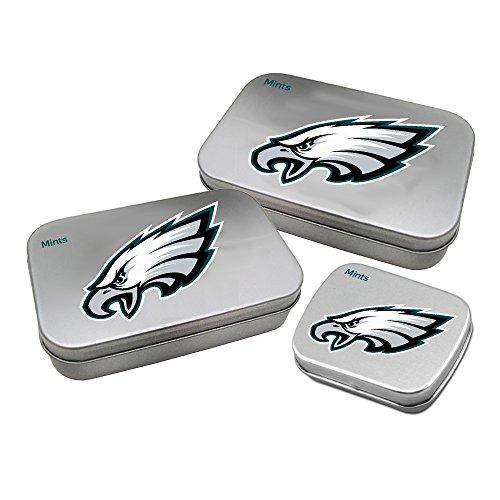 Football Nfl Eagles Card Philadelphia (Worthy Promotional NFL Philadelphia Eagles Decorative Mint Tin 3-Pack with Sugar-Free Mini Peppermint Candies)