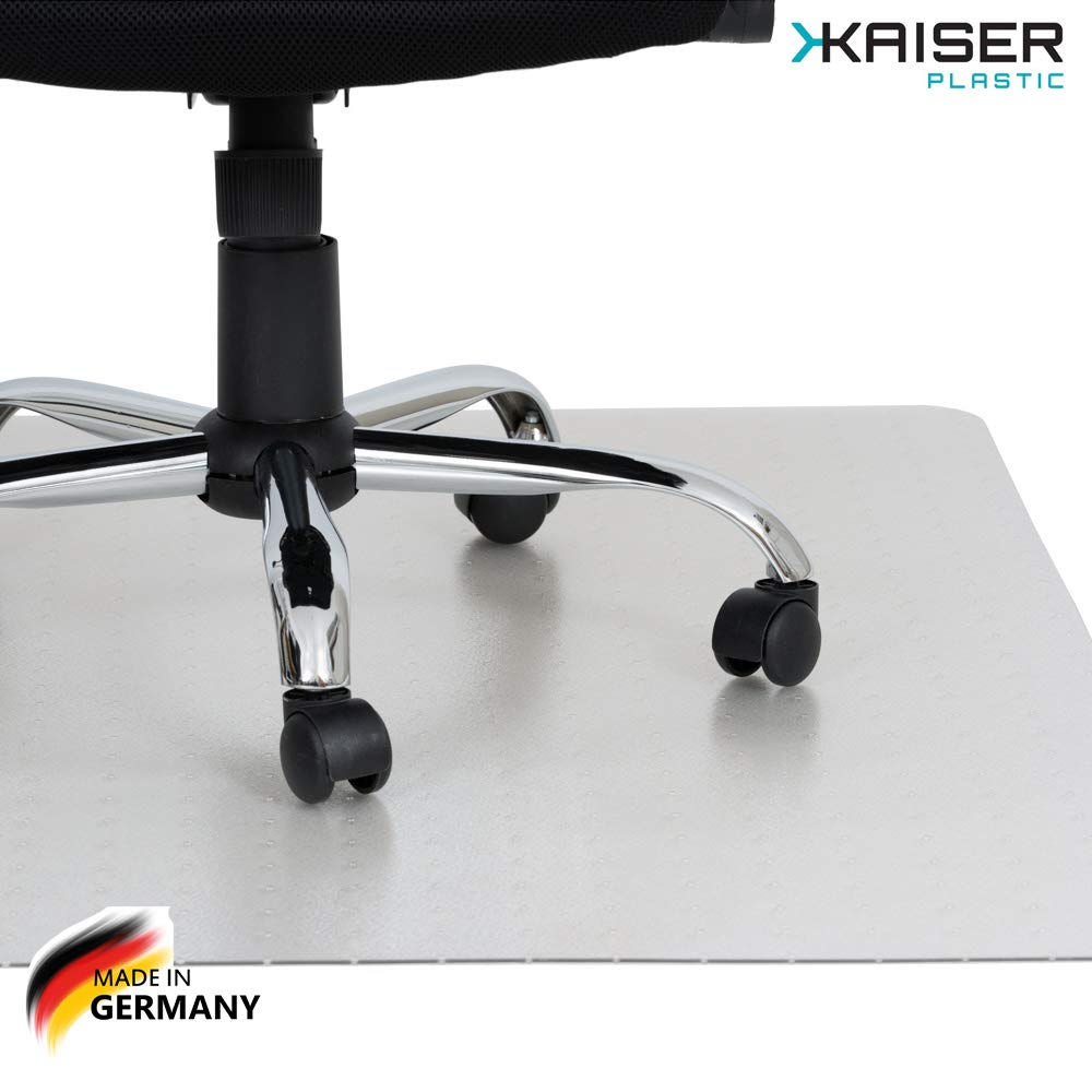 KAISER PLASTIC Chair Mat | Xtra - Strong Quality | Made-in-Germany | 36'' x 48'' x 1/8'' Rectangular | for Low/Medium Pile Carpets | 100% Premium Polycarbonate
