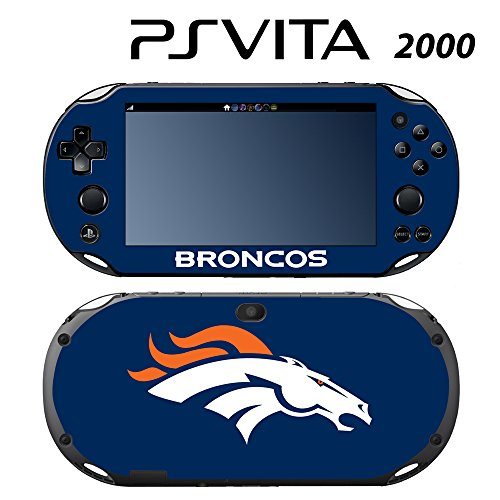 Skin Decal Cover Sticker for Sony PlayStation PS Vita Slim (PCH-2000) - Broncos -  Decals Plus