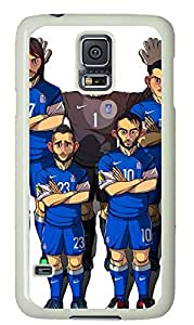 galaxy s5 case,custom samsung galaxy s5 case,TPU Material,Drop Protection,Shock Absorbent,white case,Cartoon character pattern,Cartoon Serbia Montenegro Football team