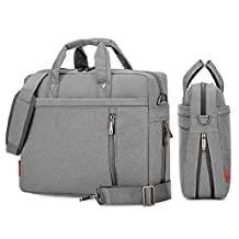 SLIN Double-Layer Air Cushion Shockproof Laptop Bag 13 inch Extensible Computer Shoulder Bag Messenger Crossbody Bag Water Resistant Business Briefcase for Notebook Computer Chromebook Ultrabook Acer Dell Hp Sony Ausa Samsung Lenovo Grey