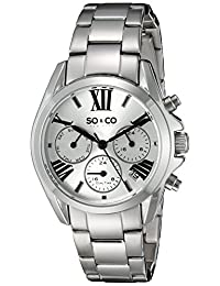 SO & CO New York  Women's 5064.1 Madison Analog Display Quartz Silver Watch