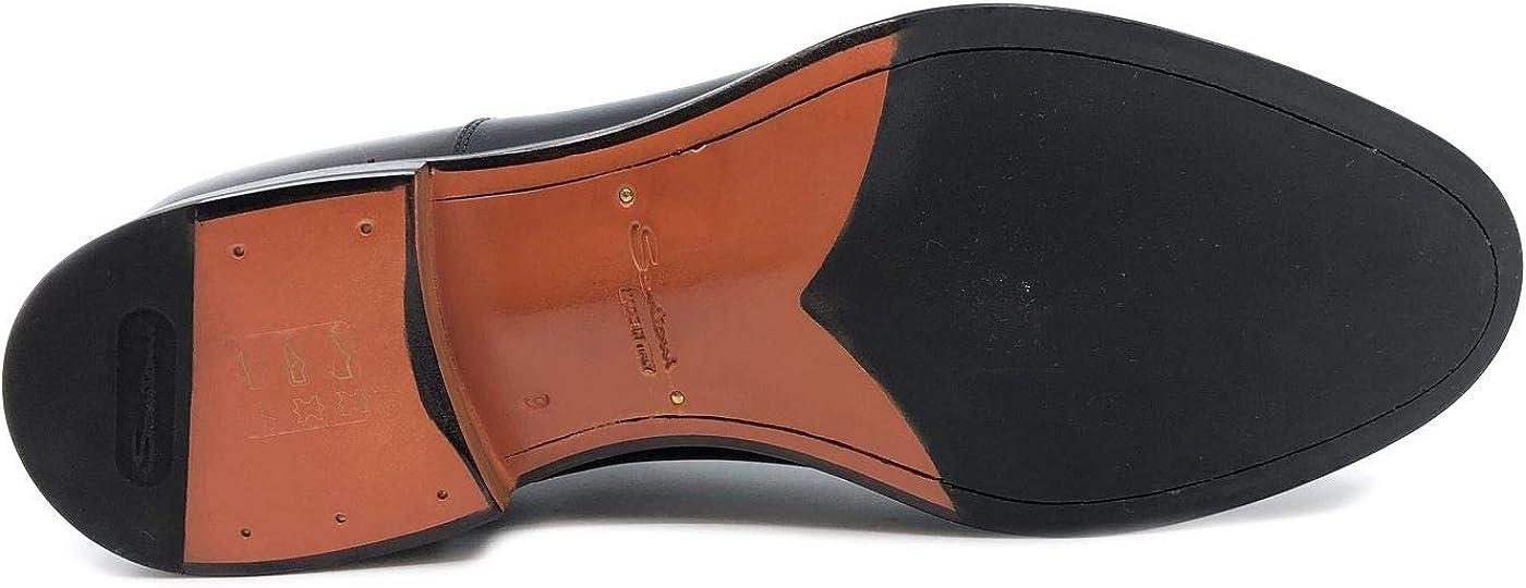 Santoni MCCO14709JJ1INTCN51 Lacet pour homme en cuir noir Noir