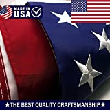 ATHX American Flag 2x3 ft. - Embroidered Stars - Sewn Stripes - Brass Grommets - UV Protected - Heavyweight Oxford Nylon Built for Outdoor Use (2x3 Foot American Flag)