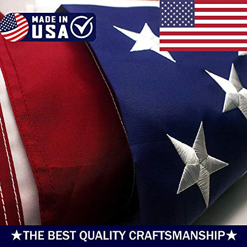 ATHX American Flag 2x3 ft. - Embroidered Stars - Sewn Stripe