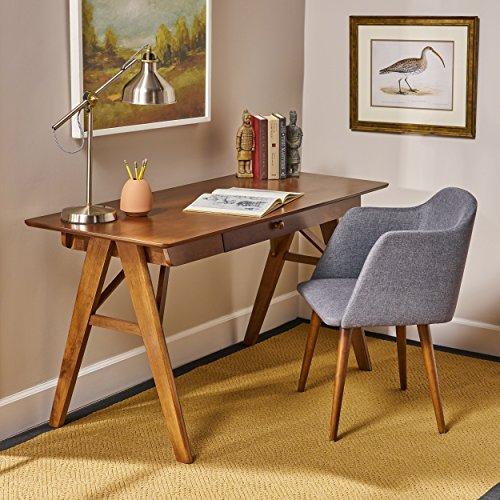 Great Deal Furniture | Belle | Mid Century Wood Desk | in Walnut