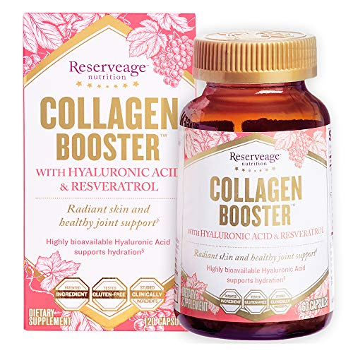 Reserveage, Collagen Booster, Skin and Joint Supplement, Supports Healthy Collagen Production, Gluten Free, 60 capsules (30 servings)