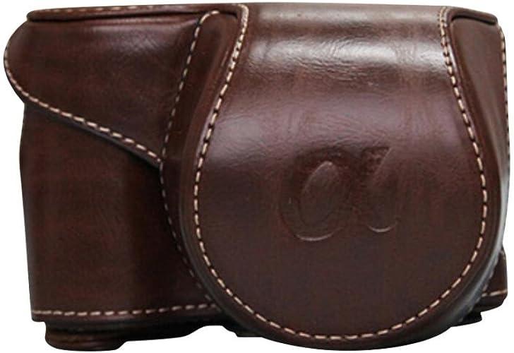 Zaru Leder Kameratasche Tasche Tasche Für Sony A6000 A6300 Nex6 Kaffee Schuhe Handtaschen