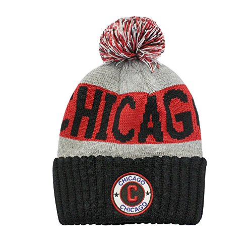 aac239f1c9c ChoKoLids Football City Pom Beanie Premium Embroidered Patch Winter Soft  Thick Beanie Skully Hat