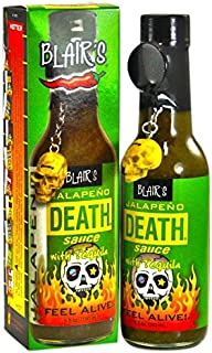product image for Blair's Jalapeno Death Sauce with Tequila & Skull Key Chain - 5 oz