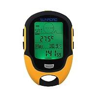 Home Care Wholesale® Multifonction Altimètre Baromètre Boussole Numérique pour Sports en Extérieur (Sunroad Modèle FR-500)