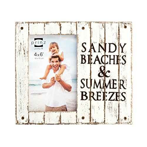 PRINZ Homestead 'Sandy Beaches & Summer Breezes' Wood Plank Frame, 4 x 6