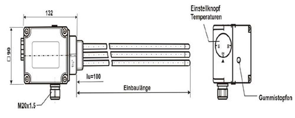 ElektroHeizStab Heizpatrone Heizstab 2 3 4,5 6 8 12 kW Gr/ö/ße 3 kW