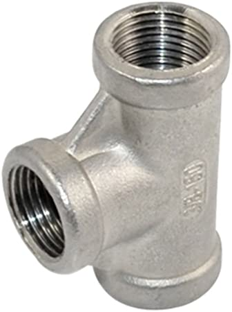 SUPERWHOLE 2 x1-1//2 Female Nipple Threaded Reducer Pipe Fitting Stainless Steel 304 BSPT NEW
