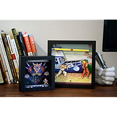 Pixel Frames Capcom Street Fighter - Boat Scene 9x9 Shadow Box Art (Big): Toys & Games