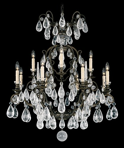 Schonbek 2472-26 Versailles 2472 12-Light Chandelier in French Gold with Clear Rock Crystal
