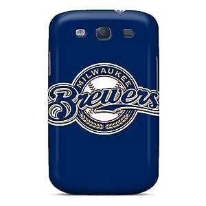 Awesome JhcgIYY1767CCzSJ STWanke Defender Tpu Hard Case Cover For Galaxy S3- Baseball Milwaukee Brewers