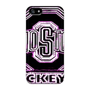 Anti-Scratch Cell-phone Hard Cover For Iphone 5/5s (QPq15148Oilz) Customized Vivid Ohio State Pattern