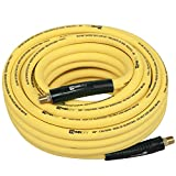 WYNNsky 3/8'' Hybrid Air Hose 50ft 1/4'' MNPT Air Compressor Hose Heavy Duty Lightweight Hybrid and Bend Restrictor Fittings