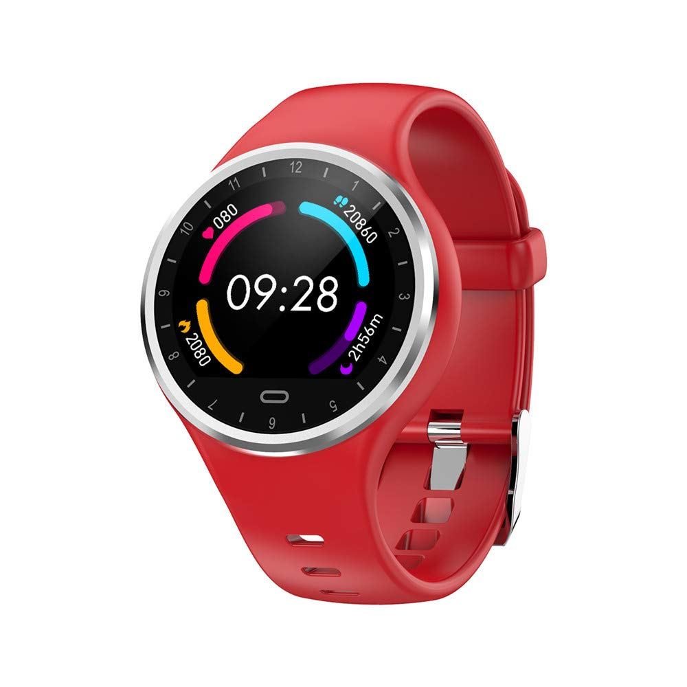 Boens Smart Bracelet, IP68 Waterproof Bluetooth Smartwatch Pedometer Heart Rate Monitor Blood Pressure Blood Oxygen Monitoring Smart Band for Android iOS(Red)