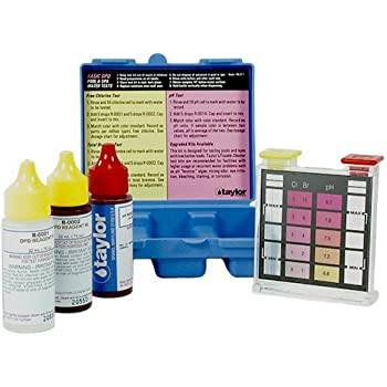 Taylor k1001 basic residential dpd pool or spa test kit garden outdoor for Swimming pool test kits amazon