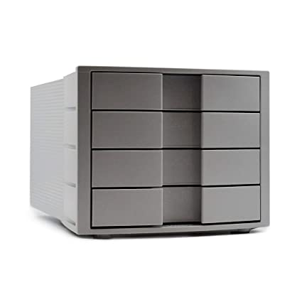 Han Impulse - Cajonera de oficina (tamaño C4, 4 cajones), color gris claro