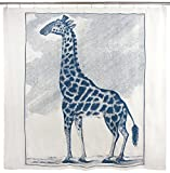 thomaspaul Giraffe Etching Shower Curtain, 72 by 72''