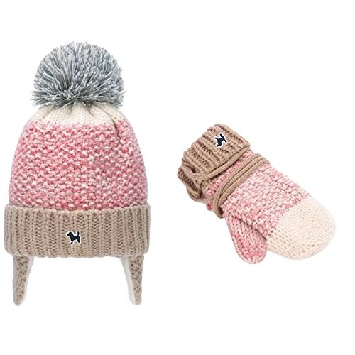 oys Fair Isle Fleece Hat and Mittens Set(26038-Pink) Fits 1-5 years ()