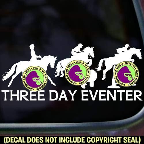 3 DAY EVENTER Eventing Vinyl Decal Sticker D