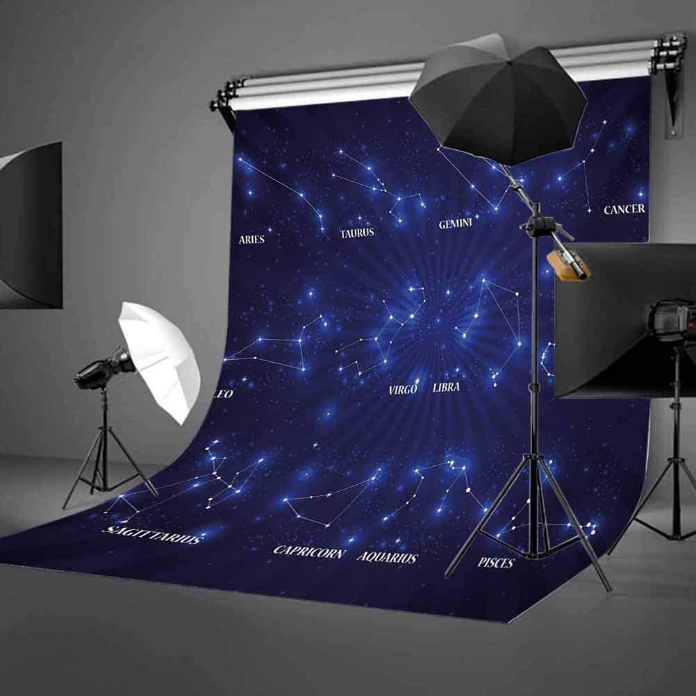 Constellation 10x15 FT Photography Backdrop Dreamy Vibrant Display of Zodiac Signs Stars Icons Astrology Background for Child Baby Shower Photo Vinyl Studio Prop Photobooth Photoshoot