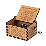 You are My Sunshine Wood Music Boxes,Laser Engraved Vintage Wooden Sunshine Musical Box Gifts for Birthday/Christmas/Valentine's Day