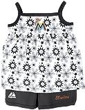 MLB Miami Marlins Baseball Beauty Tank Top and Shorts Set, White, 2 Toddler