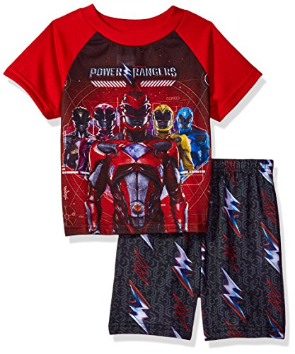Power Rangers Big Boys 2-Piece Pajama Set, Red, 10 (Short Rangers Power)