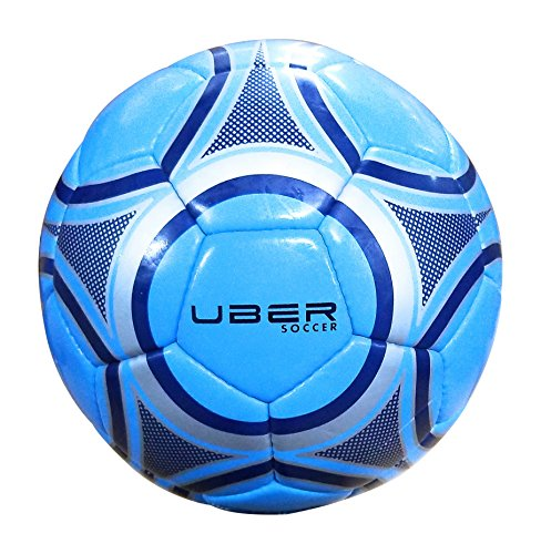Uber Soccer Blue Steel Trainer Ball - Blue/Silver - Synthetic Leather - Latex Bladder - Size 5