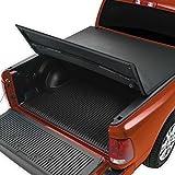 Prime Choice Auto Parts TC403324 5ft Truck Bed Tri Fold Soft Tonneau Cover