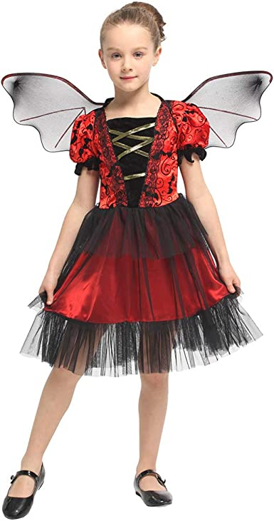 GIRLS PINK BAT COSTUME GIRL FAIRY CHEERLEADER FANCY DRESS SIZES AVAILABLE