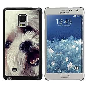TopCaseStore / la caja del caucho duro de la cubierta de protección de la piel - Havanese Bichon Frise White Small Dog - Samsung Galaxy Mega 5.8 9150 9152