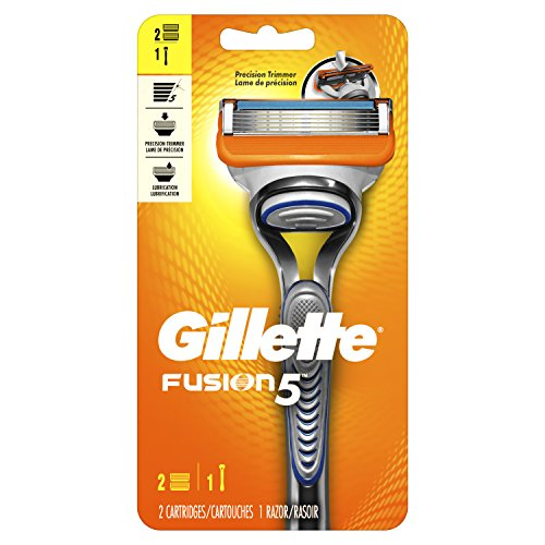 Gillette Fusion5 Men's Razor, Handle & 2 Blade Refills