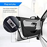CHANONE Car Door LED Logo for Dodge Projector Ghost Shadow Charger Magnum, Entry Welcome Lamp Logo Light, LED Courtesy Step Lights Ground Lamp Kit Replacement
