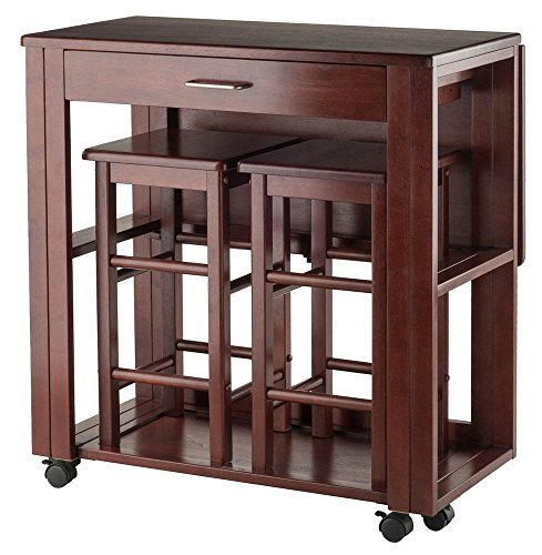 Decor Space Saver - Winsome Wood 3-Pc Space Saver Set in Walnut Finish