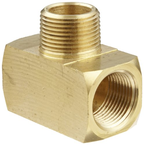 Anderson Metals Brass Pipe Fitting, Barstock Tee, 3/4
