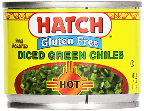 Hatch Chili Green Chilies, Hot, Diced, 4 Oz
