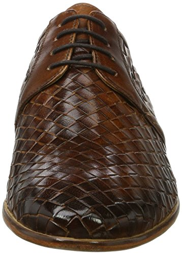 Melvin & Hamilton Brad 1, Scarpe Stringate Derby Uomo Marrone (Woven Wood Ls Woven Wood Ls)