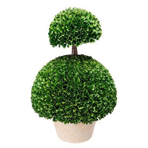 Faux Boxwood Topiaryダブル半円14 x 24