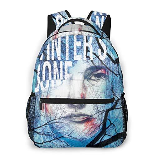 NA Black Hiking Backpack Crazy Casual Backpack Winter's Bone-1 Cool Backpacks One Size
