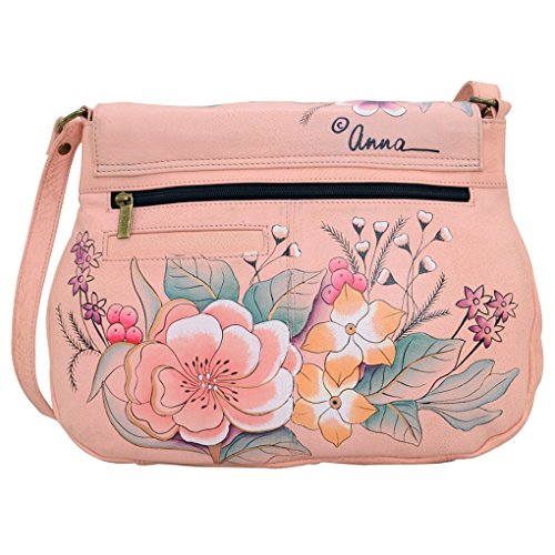 Anna Hobo Leather Garden Purse Handpainted Holder Bundle Anuschka Tassle Vintage nq7Iqgx